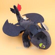 купить 44cm 17'' How to Train Your Dragon 2 Plush Toy Night Fury Toothless Dragon Soft Plush Doll Toys Collection Gift дешево