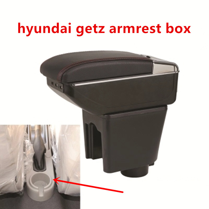 Car Console FOR Hyundai Getz Car Armrest Box Center Arm Rest With Cup Holder Ashtray 2005 2008  Car Accessories Auto Parts|Armrests| |  - title=