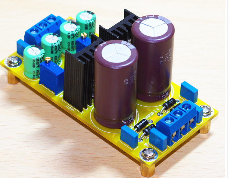 Fast Free Ship 2pcs/lot LM317 LM337 DC Adjustable Regulated Power Supply Board Module Kits