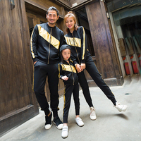 Family Matching Clothes Spring and Autumn Mens Sports Suits Women Casual Outfit Mom Daughter Clothing Family Sets