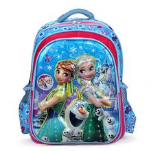 2016 New Fashion 6D Girls School Bags Children Backpack Primary Bookbag Orthopedic Princess Elsa Schoolbags Mochila Infantil