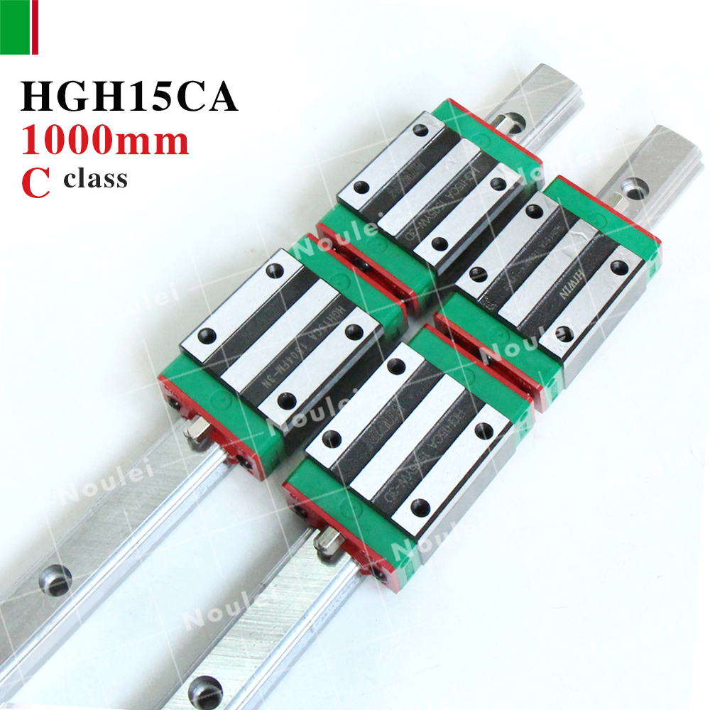 HIWIN HGH15CA slide block with 1000mm linear guide rail 15mm HGR15 for CNC z axis HGH15 guida lineare hig quality linear guide 1pcs trh25 length 1200mm linear guide rail 2pcs trh25b linear slide block for cnc part