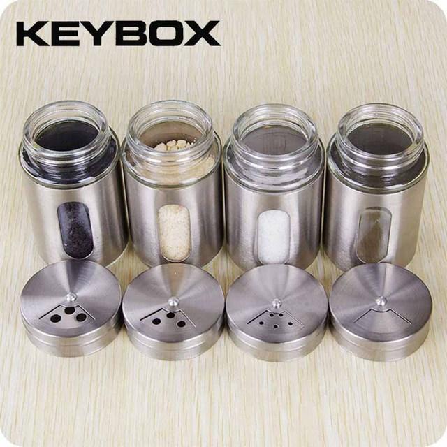 Stainless Steel Seasoning Bo E Jar Holder Kitchen Storage Bottle Jars Container