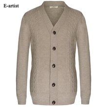 New Autumn Mens Knitted Sweaters Male Winter Cardigans Button Knitwear Slim Fit Casual SweaterCoats Plus Size 5XL M06