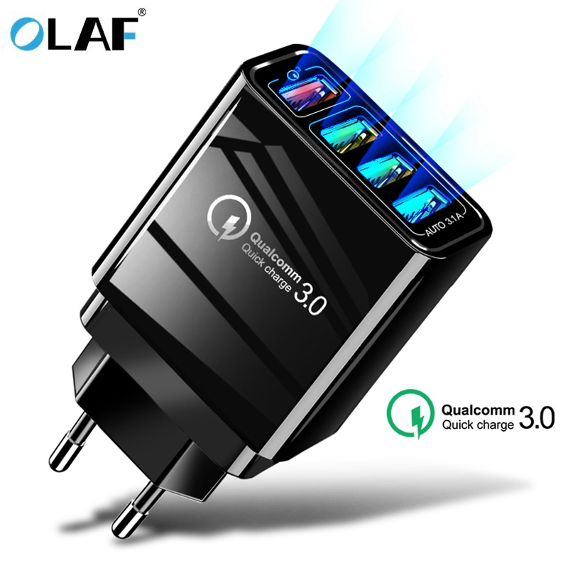 Cargador rápido 48 W cargador USB 3,0 para Samsung A50 A30 iPhone 7 8 Huawei P20 tableta QC 3,0 rápido cargador de pared US EU UK enchufe Adapte