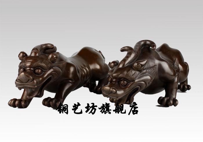 La Pure Brave une paire de meubles pour plutôt que pour Wangcai Brave cuivre Hugh recruter Mammon bête Feng Shui mascotte