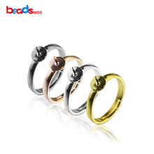Beadsnice adjustable ring blank base 925 sterling silver jewelry findings diy finger rings for women ID