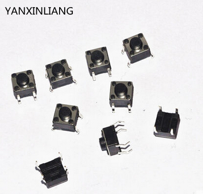 100PCS Tactile Push Button Switch Momentary Tact 6x6x6mm dip 6*6*6mm