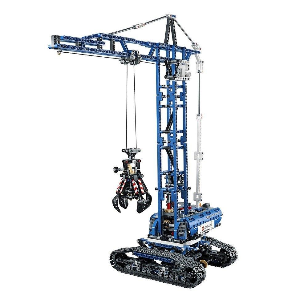 Technique kit 1401 pièces Blocs De Construction jouets pour Enfants Compatibles Lego Technic 42042 Briques Grue Sur Chenilles cadeaux