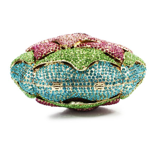 multi color flower hard shape box crystal stone evening bag elegant clutch  bags(8746A P)-in Top-Handle Bags from Luggage   Bags on Aliexpress.com  b8f9a36606ad