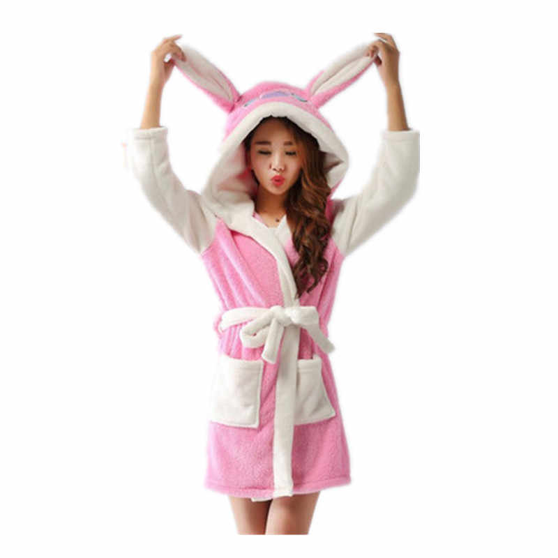 c0556c128f ... New Winter Autumn Women s Long-Sleeve Pink Rabbit Bathrobes Thickening  Home Casual Sleepwear Soft Robe. RELATED PRODUCTS. hot Sale Cartoon Panda  Winter ...