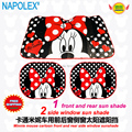 accessories Cartoon minnie mouse front  side window sunshade Foils Windshield Visor Cover UV Protect Car window Film sun shade