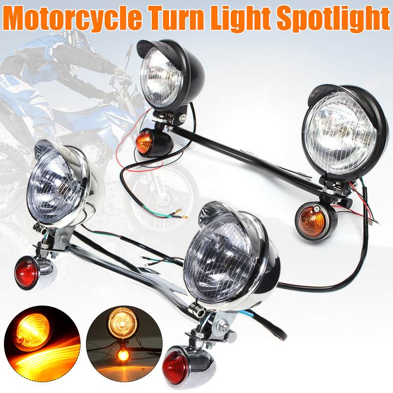 T12V 10W Bar Passing Lamp Turn Signal Light For Harley-Davidson For Kawasaki For Honda For Suzuki For Yamaha