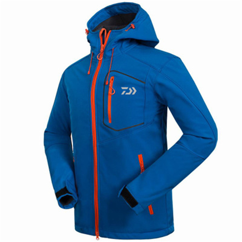 2018 Autumn Winter New Daiwa Fishing Clothing Outdoor Waterproof Warm Jackets Breathable Fleece Soft Shell Outerwear Plus Size men plus size 4xl 5xl 6xl 7xl 8xl 9xl winter pant sport fleece lined softshell warm outdoor climbing snow soft shell pant
