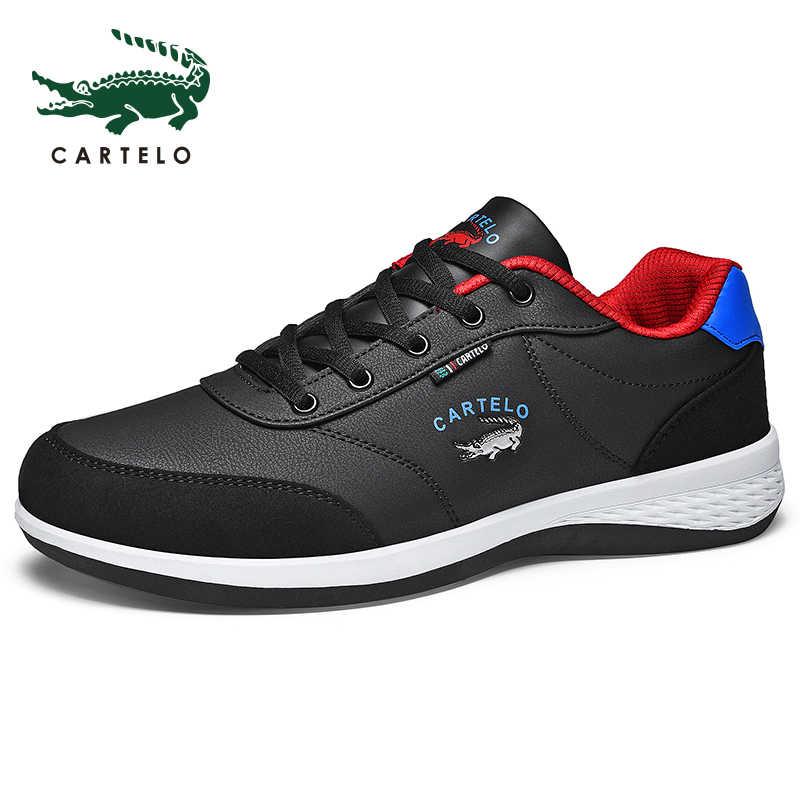 Zapatos de hombre CARTELO, calzado deportivo de ocio para hombre, moda coreana, malla ligera transpirable, cómodos zapatos para correr para hombre