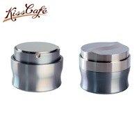 58mm 커피 탬퍼 커피 파우더 해머 플랫베이스 조정 가능한 304 스테인레스 스틸 맞춤형 커피 액세서리