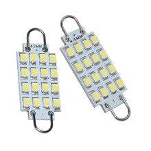 1 шт. 42 мм-44 мм 16-3528-SMD чистый белый фестон жесткая петля 0,56 Вт Светодиодный светильник карта лампа для чтения 40LM 12V
