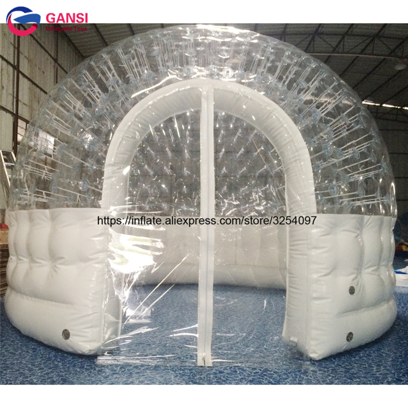 Outdoor camping inflatable dome tent for family 3m inflatable bubble tent for lawn events with free air pump floating tents funny summer inflatable water games inflatable bounce water slide with stairs and blowers