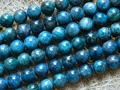 Free shipping (39 beads/set/60g) natural 9.8-10.8mm blue apatite round loose gem stone beads for jewelry making