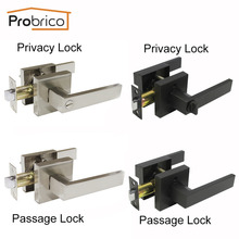 Probrico бесшумные дверные ручки для межкомнатных дверей в спальню рычаг без ключа для прохода/замки для конфиденциальности современный дом, кухонная фурнитура для ванной комнаты