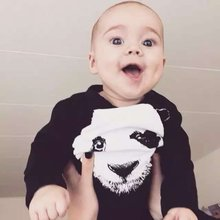 New Winter One-pieces Baby Long Sleeve Jumpsuit The Panda Siamese Clothes Baby Unisex Jumpsuits Clothes