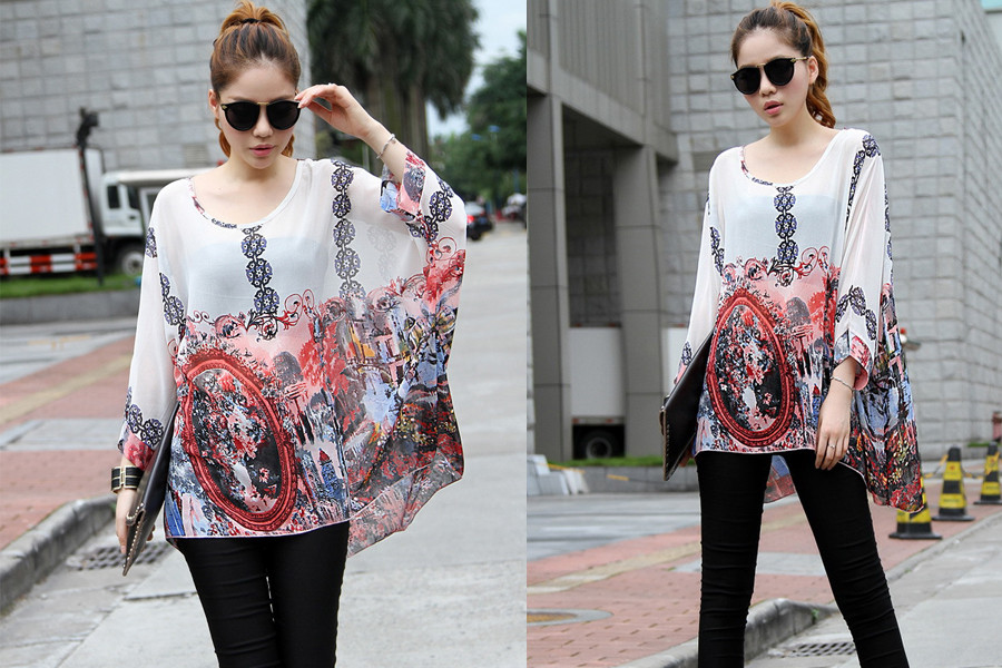 HTB1J8d3LXXXXXX3XVXXq6xXFXXXu - New Fashion Summer Women's Shirt Boho Style Batwing Casual