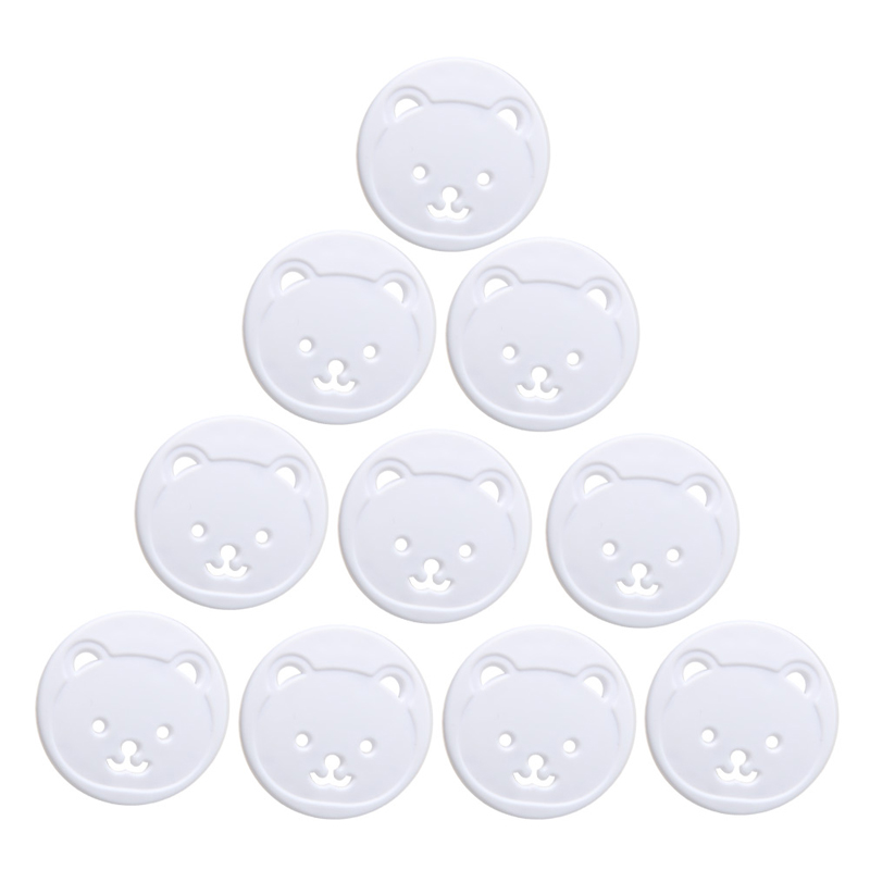 New 10pcs Bear EU Power Socket Baby Kids Child Safety Guard Protection Anti Electric Shock Plugs Protector Cover