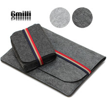 """Gmilli Protective Wool Felt Ultrabook Sleeve Pouch Bag Laptop Cover Case For 11"""" 12"""" 13"""" 15"""" Macbook Pro/Air/Retin"""