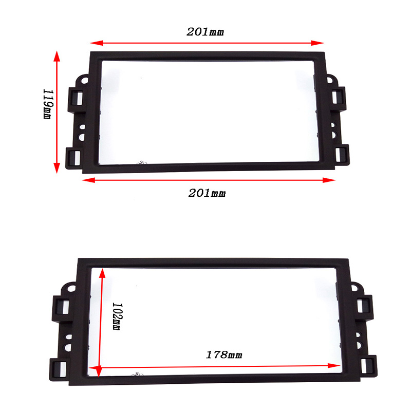 Image 2 - Double 2 Din Car DVD Frame,Audio Fitting Adaptor,Dash Trim Kits,Fascia For Chevrolet Captiva/Lova/Gentra/AVEO-in Fascias from Automobiles & Motorcycles