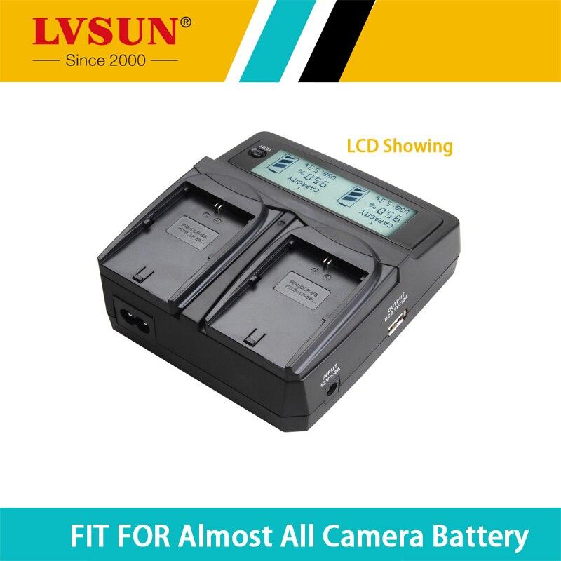 LVSUN Camera Battery LI 90B LI 92B LI92B LI90B Dual Car AC Charger for Olympus XZ