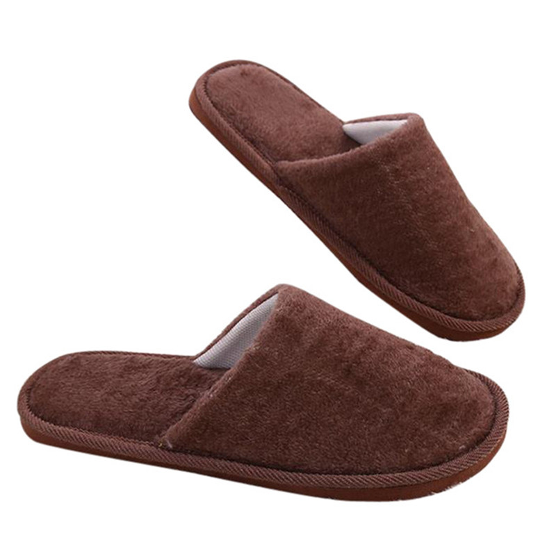 Winter Men Slippers House Shoes Floor Lovers Candy Color Home Shoes Bedroom Flats Women Slippers Indoor Slip-On Furry Shoes