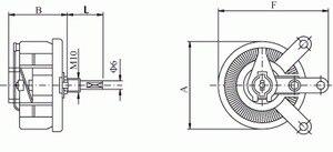 Image 2 - 25 واط 1 كيلو أوم عالية الطاقة Wirewound الجهد ، مقاومة متغيرة ، المقاوم المتغير ، 25 واط.