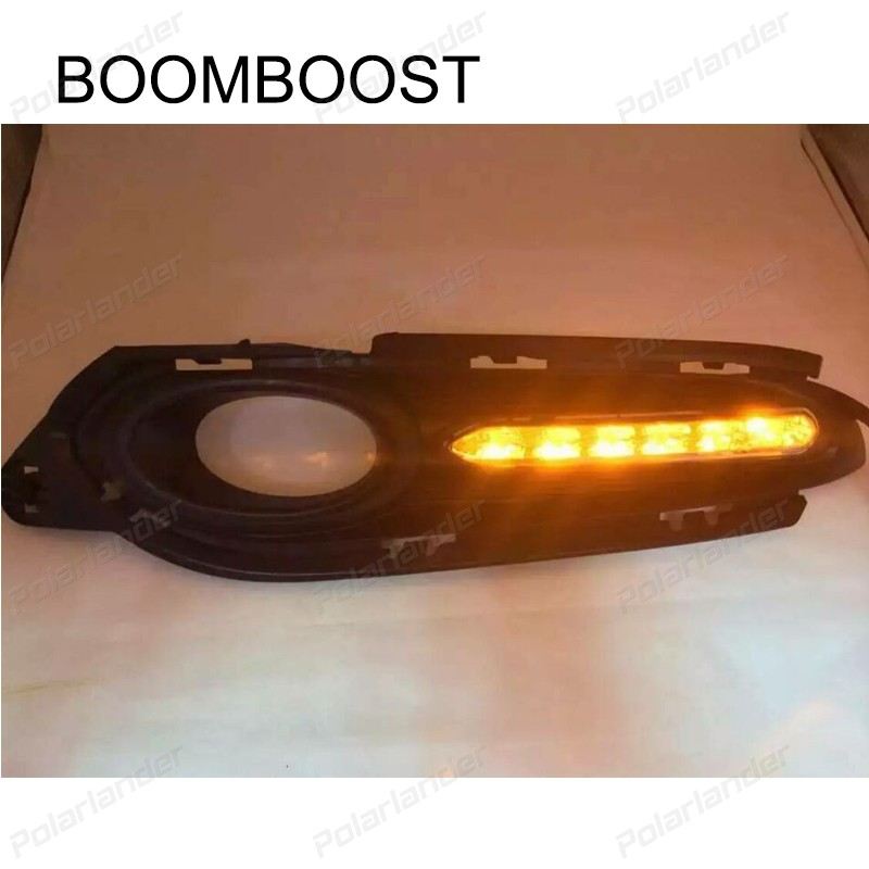 BOOMBOOSRT car accessory drl led Daytime running lights Car stylng for H/onda v/ezel 2014-2015 boomboost 2pcs car accessory led for h onda f it or ja zz 2014 2015 car stylng daytime running lights