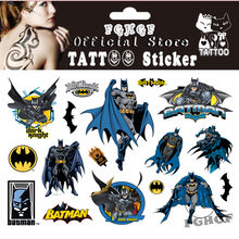 FGHGF 10PCS/lot bat people Child Temporary Body Art Flash Tattoo Sticker 17*10cm Waterproof painless tattoo