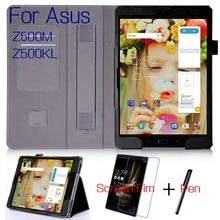 """Nouveau Luxe Stand Intelligent PU Couverture En Cuir pour Asus ZenPad 3 S 10 Z500M Z500KL 9.7 """"Tablet Case + Livraison écran Protecteur + Stylo"""