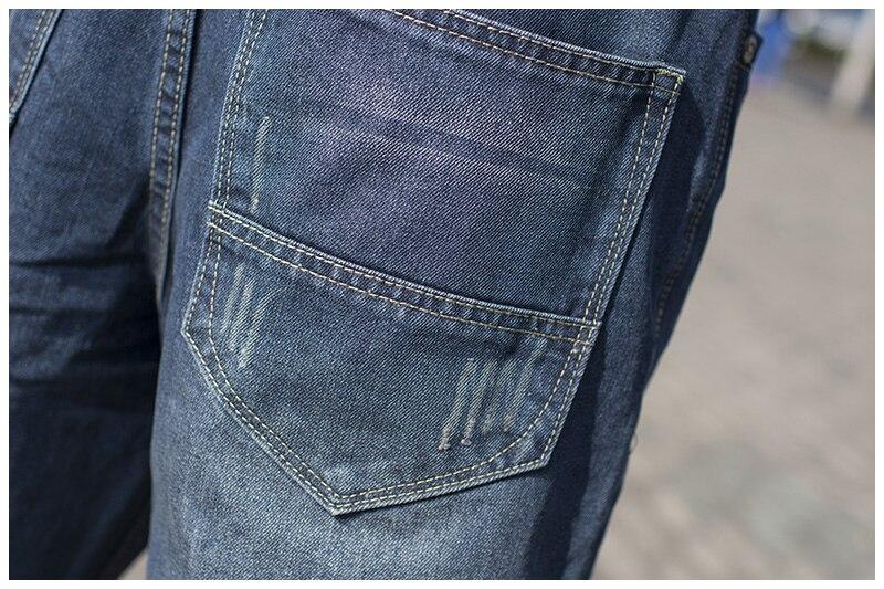 Männliche Hip Hop-Baggy-Jeans für Männer mit breitem Bein - Herrenbekleidung - Foto 4