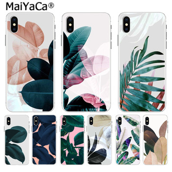 MaiYaCa Tropical Plants Cactus Banana Leaves Hot selling phone case for iPhone 8 7 6 6S Plus X 5 5S SE XR XS XS MAX