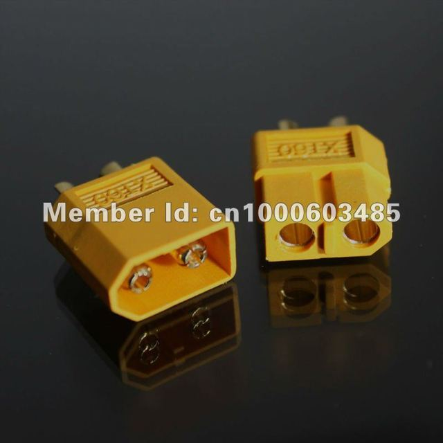 free shipping XT60 rc lipo battery connector bullet Connectors Gold-plated plug Male /female, high quality