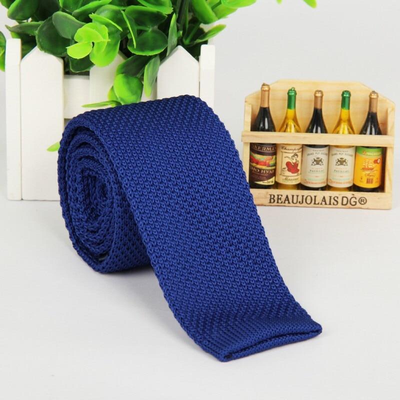 SHENNAIWEI Mode 5,5 cm Krawatte dünne gestrickte Krawatte schmale - Bekleidungszubehör - Foto 4