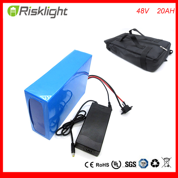 free bag  48v lithium ion battery 20ah electric battery for e-bike 48v  Electric Bike Battery  48v 20ah , 30A BMS ,54.6V charger free shipping customs duty hailong battery 48v 10ah lithium ion battery pack 48 volts battery for electric bike with charger