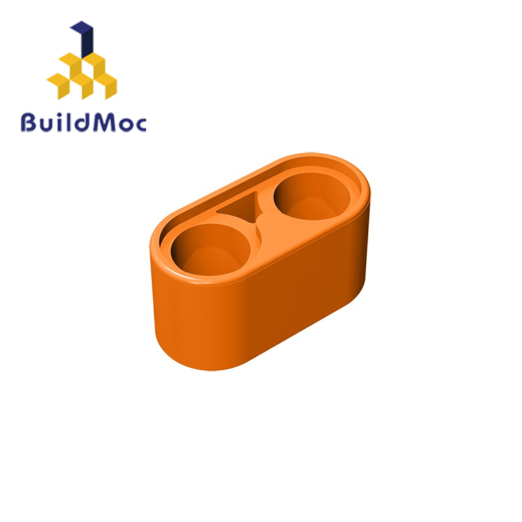 BuildMOC Compatible Assembles Particles 43857 1x2 For Building Blocks Parts DIY LOGO Educational Creative Gift Toys