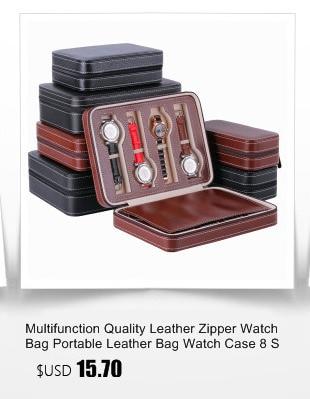 rolo 3 slots relógio de pulso caixa