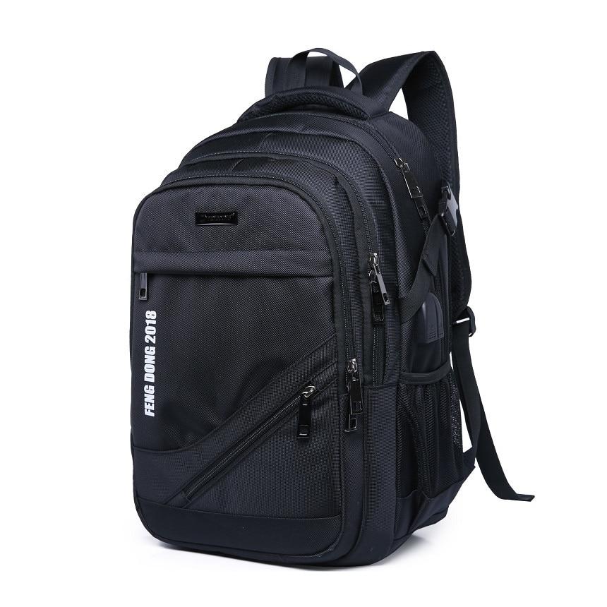 black school backpack waterproof large bagpack rucksack man back pack men laptop bag 15.6 boys school bags backbag dropshipping