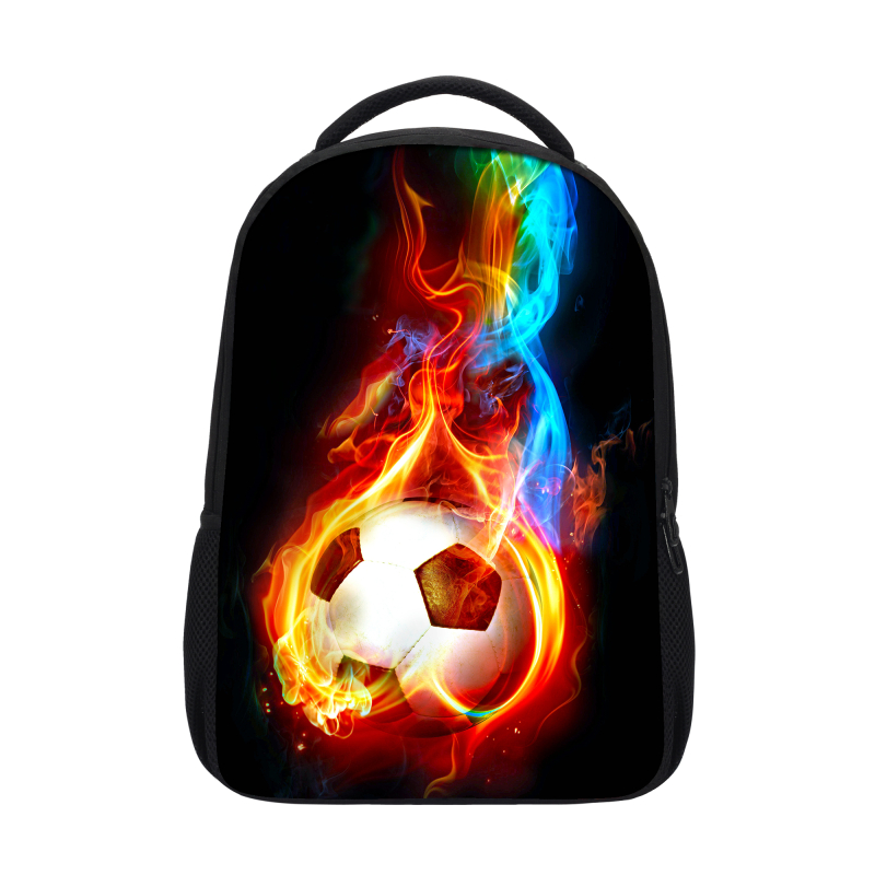 VEEVANV New Flame Music Mark Children Backpacks Flame Printing School Bookbag Teenagers Boys Skull Rose Flower Kids Shoulder Bag