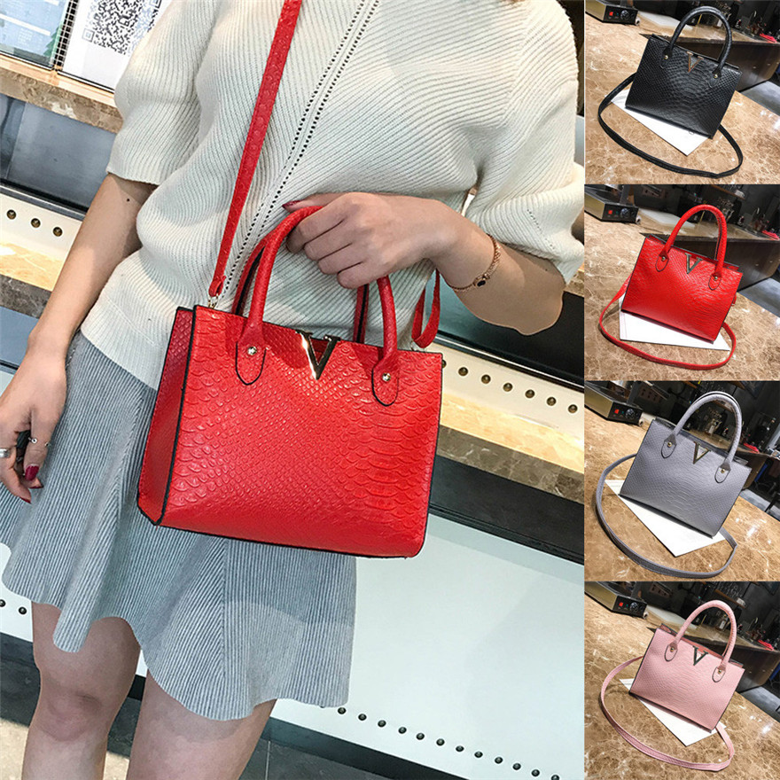 Woman Crossbody Bags bolsa feminina Leather Handbag Alligator Pattern Shoulder Bag crossbody bags for women 2018 luxury