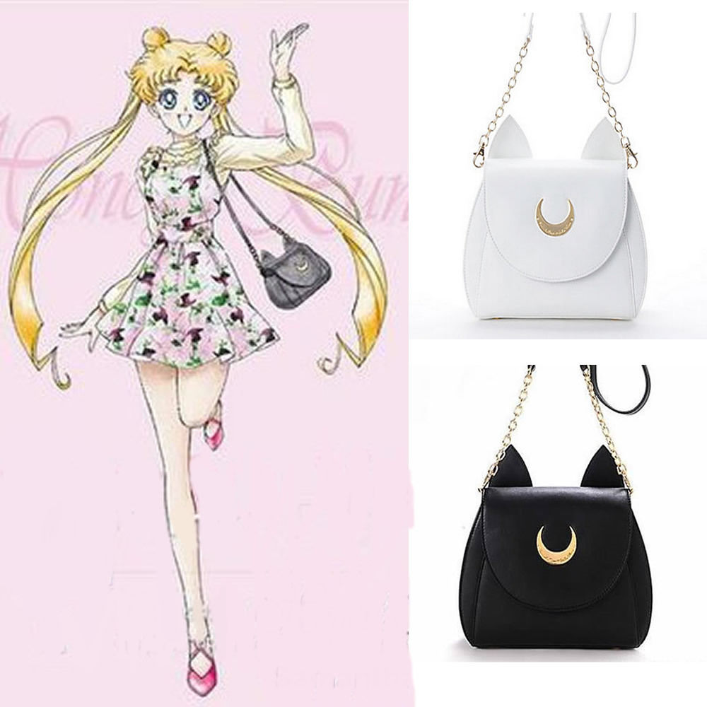 Fashion Kawaii Samantha Cute Sailor Moon Bag Ladies Handbag Cat Luna Moon Women Shoulder Messenger Crossbody Bag