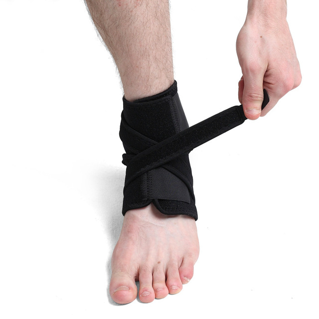 1pc Breathable Neoprene Sleeve Ankle Support Compression Brace Adjustable Sprain Pain Relief Protectors Foot Foot Orthosis power knee stabilizer pads lazada