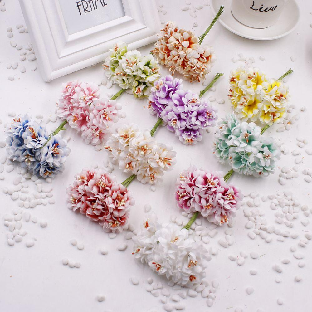 30 Pcs Stamenartificial Flower Silk Handmade Gradient Artificial