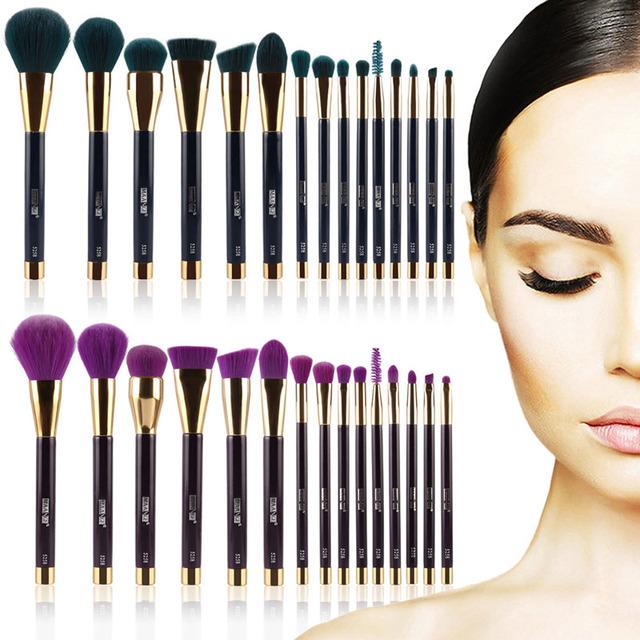 15 Unids Pro Maquillaje Cepillos de Polvo Cosmético Fundación Componen Cepillo