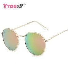 2017 retro round sunglasses women men brand designer sun glasses for women's Alloy mirror sun glasses female oculos de sol Y188